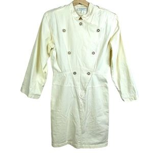 Vintage Dress Lew Magram Collection Ivory Small